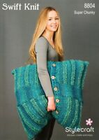 Stylecraft Knitting Pattern 8804 Floor Cushions Super Chunky Easy Knit Large XL