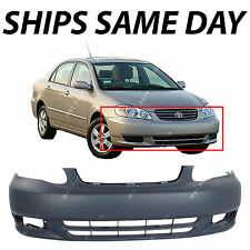 NEW Primered Front Bumper Cover Fascia for 2003 2004 Toyota Corolla CE LE Sedan
