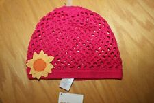 NWT Gymboree  Sunflower Smiles size 5-7 Pink Crochet Flower Hat