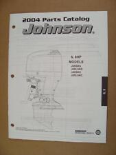 2004 Omc Johnson Sr 6 & 8 Hp Models Outboard Motor Engine Parts Catalog 5005672