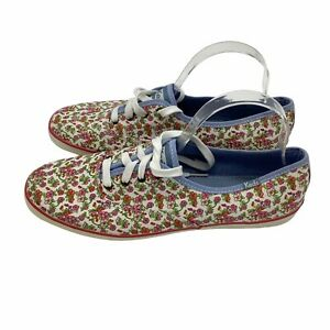 NWOB Womens Pink White Floral Print Canvas Sneakers Size 11 Spring Sneakers
