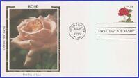 US #2490 U/A COLORANO SILK FDC   Red Rose S/A