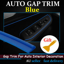 Gap Trim Blue Edge Garnish Dash Inner Gape Line Moulding Strip Car Accessory 6M