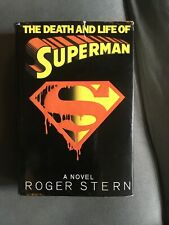 THE DEATH AND LIFE OF SUPERMAN by Roger Stern novelization HC Hardcover DC Comic