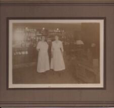 1910 Card Mounted Photo Candy Shop Interior with Coca Cola Sign