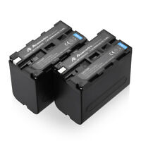 2 Pack 8800mAh NP-F960 NP-F970 Battery For Sony NP-F570 NP-F930 NP-F550 NP-F950