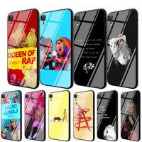 Nicki Minaj Billie Eilish Tempered Glass Case for iPhone 8 7 6 6S Plus X XS Max