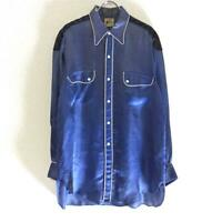 LEVI'S 30's Vintage Rodeo shirt Satin Blue Rare From JAPAN Free shipping