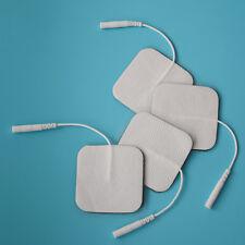 50 pairs/set Conductive Electrodes Pads 5*5cm Plug Hole 2.0mm For TENS Machines