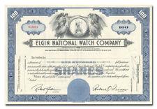 Elgin National Watch Company Stock Certificate