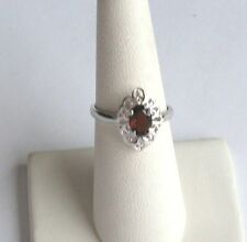 .925 Sterling Silver, Oval GARNET Ring, Size 6, New withTag
