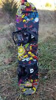 Toddler Burton Marvel Iron Man Chopper 80cm Snowboard with XS Bindings Lot 1779