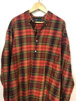 Ralph Lauren  Shirt Blake  Plaid Red 2xl xxl Mens Button Front