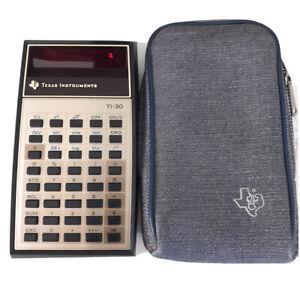 Texas Instruments~ Vintage Electronic Calculator TI 30~Original Case~ Working