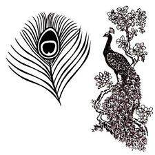 2 stamps - Peacock lg. and Eye Feather lg. Unmounted rubber stamps #8