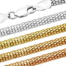 Popcorn Silberkette - SS 925 - 1.7-3.6 mm + 40,45,50,55,60,65,70,75 cm