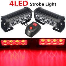 2x LED Red Car Auto Van Strobe Flash Grille Light Warning Hazard Emergency Lamp