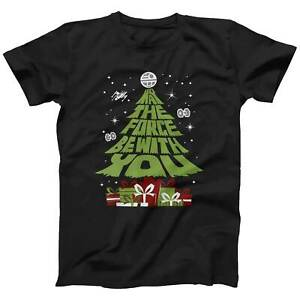 Star Wars May The Force Be With You Christmas Tree T-Shirt | Funny Xmas Gift