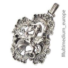 925 argento ciondolo amuleto Santo Georg bas draghi Historismus Trachten