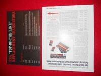 VINTAGE RCA TOP OF THE LINE REPLACEMENT TRANSISTORS CHART GUIDE