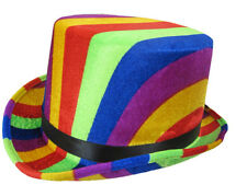 RAINBOW TOP HAT FUN NOVELTY FANCY DRESS PARTY