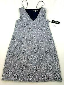 new Karl Lagerfeld Paris women dress LD8J6981 navy white sz 16 $138