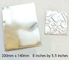 GRANDE Peltro LAMIERA timbratura Goffratura .1mm piombo gratis gioielli BIG SHOT