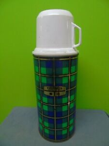 Vintage Tartan Thermos Flask, Model 18, 0.45Litres , Made In England