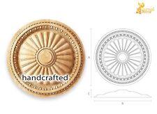 Decorative carved wood medallion (10 pc.)
