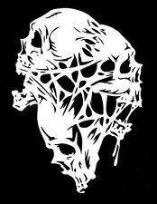 Haut détail airbrush stencil trois fonte crânes gratuit uk envoi