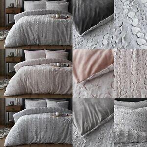 Teddy Duvet Cover Set LAUXE FAUX Fluffy Soft Warm Cozy Fleece Pile Bedding Set