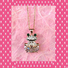 """CC1100015 - Eye catching """"gold"""" pendant with shimmering frog crystal"""