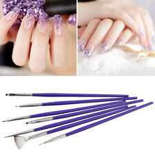 7x Nail Art Brush Kit Polish Gel Gradient Brush Painting Gradual Change Pen Set