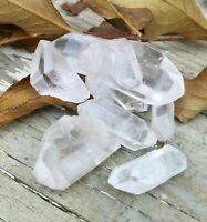 1/4 lb Natural Clear Quartz Point Crystal Raw Gemstone Reiki Grid Jewelry Heal