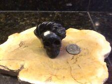 "FREIDA SKULL Black pottery OAXACA 2"""