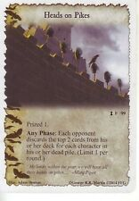3 x Heads on Pikes AGoT LCG 1.0 Game of Thrones Prize of the North 99