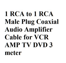 1 RCA to 1 RCA Male Plug Coaxial Audio Amplifier Cable f/ VCR AMP TV DVD 3 meter