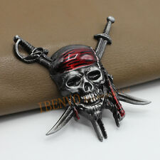 Delicate Gray Car Truck Metal Badge Emblem Accessory For Pirates Caribbean Skull