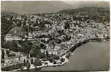 1955 Lugano Vista Aerea Panorama Preveire Guarire Ringiovanire Terme FP B/N VG