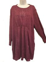 Ladies Purple Top Tunic With Studded Collar Plus Size Oversize By Grace BNWT