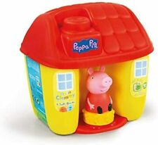 NEW Peppa Pig bucket shaped like a little house with 6 Clemmy blocks