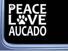 "Aucado Peace Love L599 Australian cattle Dog Sticker 6"" decal"