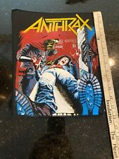 VintAge Anthrax Back Patch Spreading