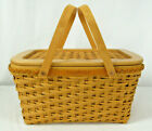 Longaberger 2000 Founder's Market Basket With Woven Lid and Protector New In Box