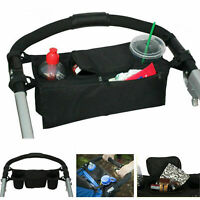 Universal Baby Pram Stroller Parent Console Dual Cup Holder Buggy Tray M1