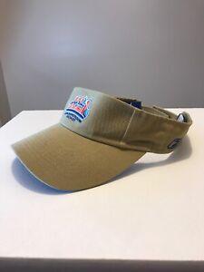 Super Bowl XLI 2007 Reebok adjustable visor with embroidered logo Beige