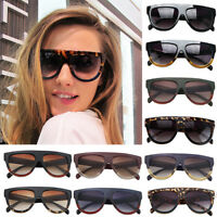 New 7 COLORS DESIGNER INSPIRED FLAT Top SHIELD Tortoise SUNGLASSES Celeb KIM