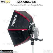 "SMDV Diffuser Speedbox-S50 21"" Rigid Hexagonal Softbox for Speedlight Qflash"