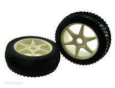 81035 White Wheels Complete 2p 1/8 Scale Spare Part For RC Off Road Buggy