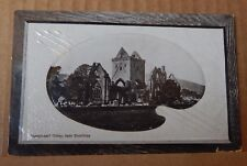 Postcard Sweetheart Abbey Near Dumfries Real Photo Embossed card posted 1912